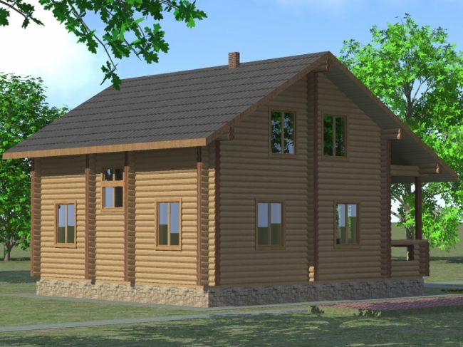 Дом из бревна-158