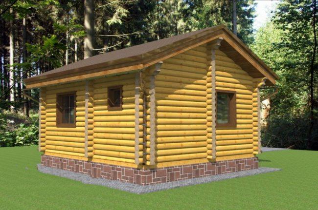 Дом из бревна-44