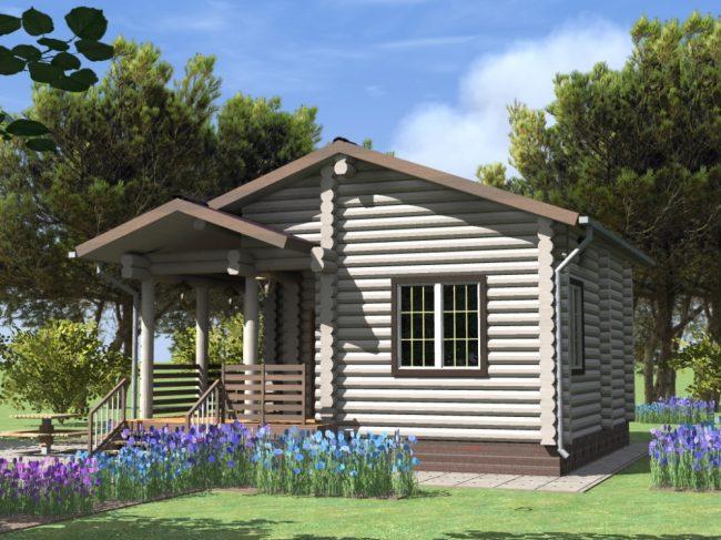 Дом из бревна-67