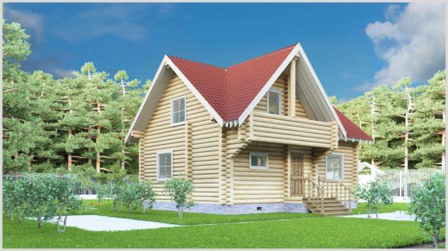Дом из бревна-91
