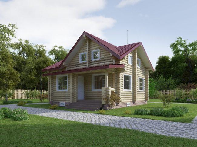 Дом из бревна-129
