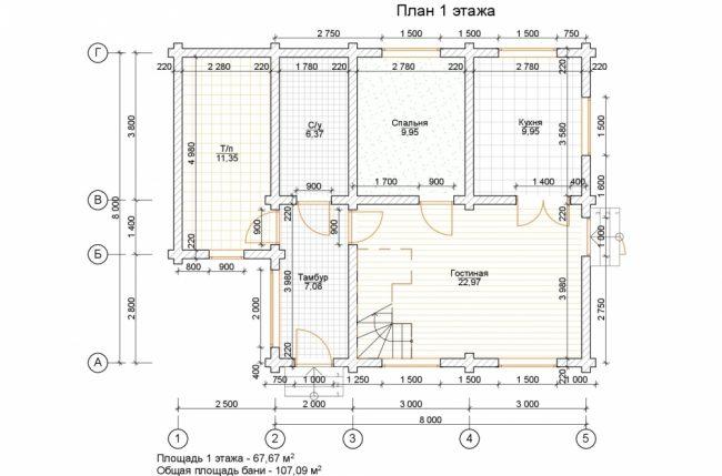 Дом из бревна-122