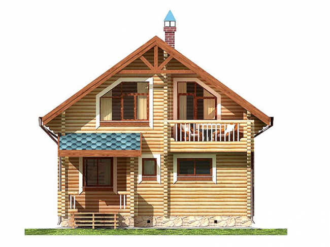 Дом из бревна-54