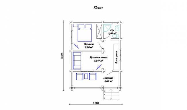 Дом из бревна-53