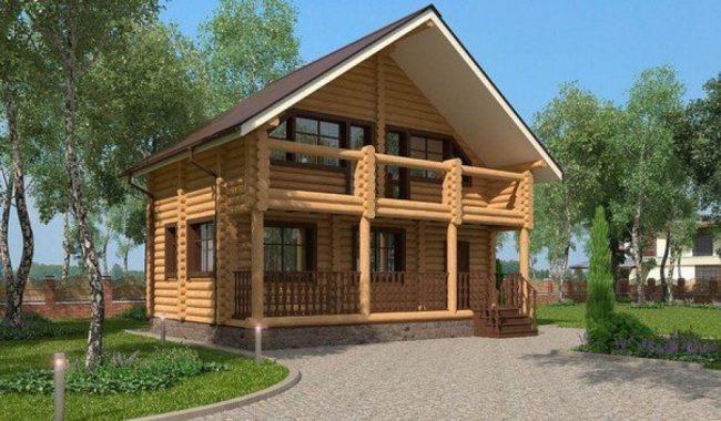 Дом из бревна-93