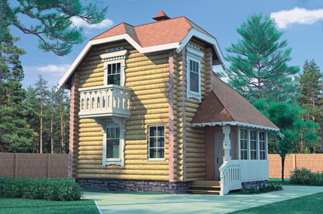 Дом из бревна-47