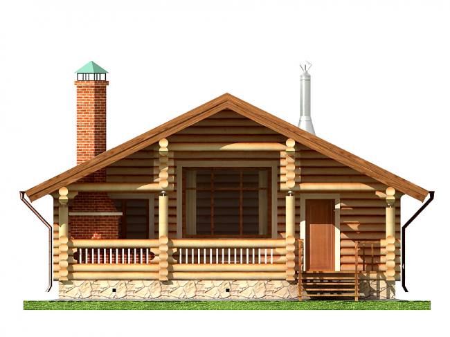 Дом из бревна-135