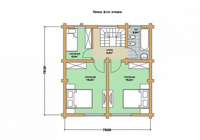 Дом из бревна-72
