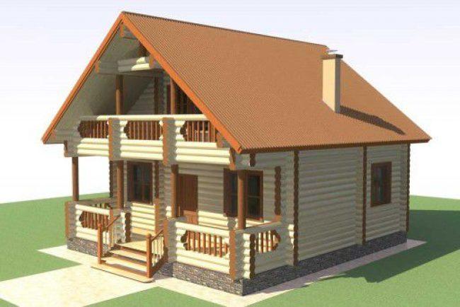 Дом из бревна-78