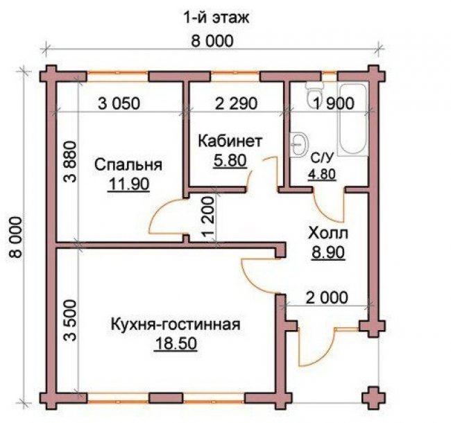 Дом из бревна-103