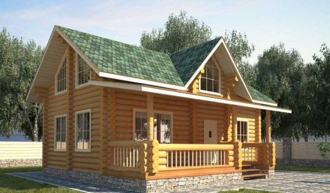 Дом из бревна-132