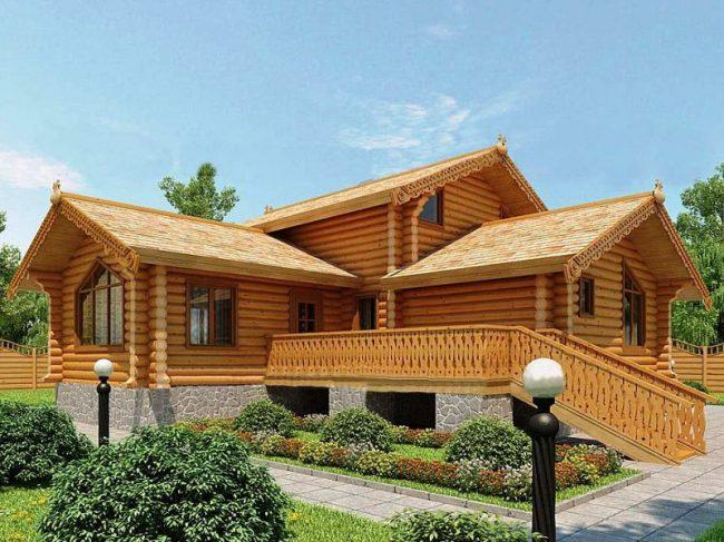 Дом из бревна-192