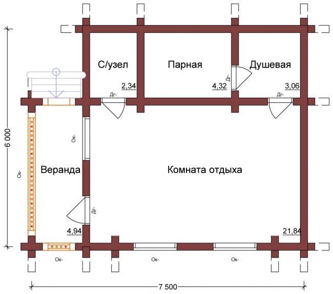 Сруб бани-122