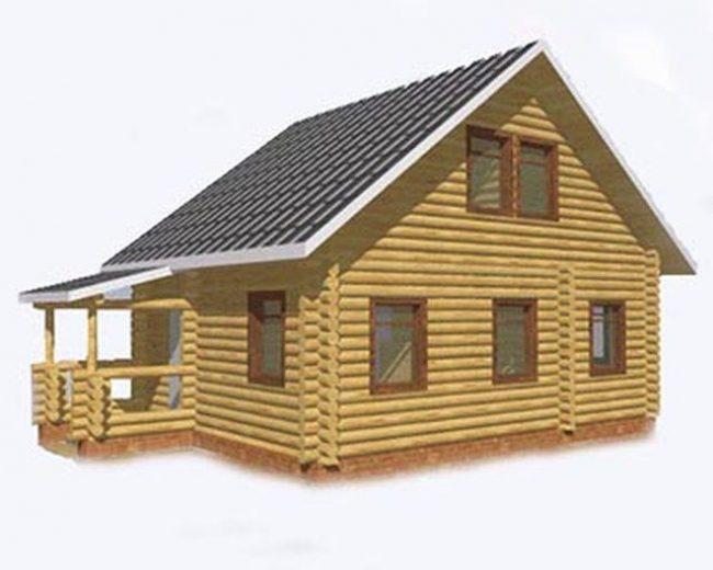 Дом из бревна-40