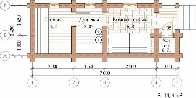 Сруб бани-30