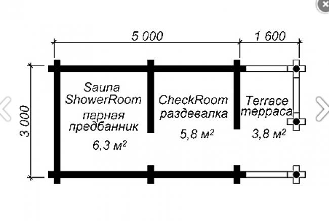 Сруб бани-26