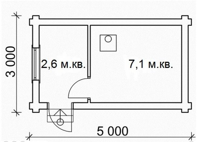 Сруб бани-15