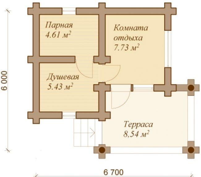 Сруб бани-119