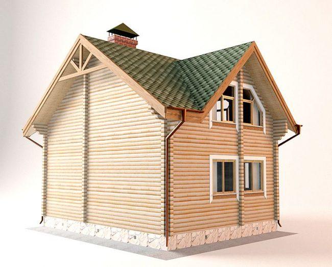 Дом из бревна-86