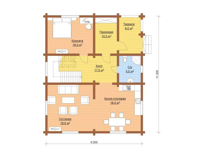 Дом из бревна-146