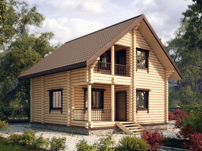 Дом из бревна-94