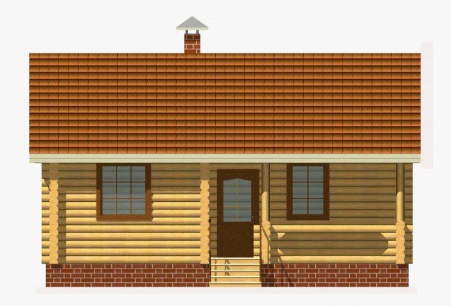 Дом из бревна-77
