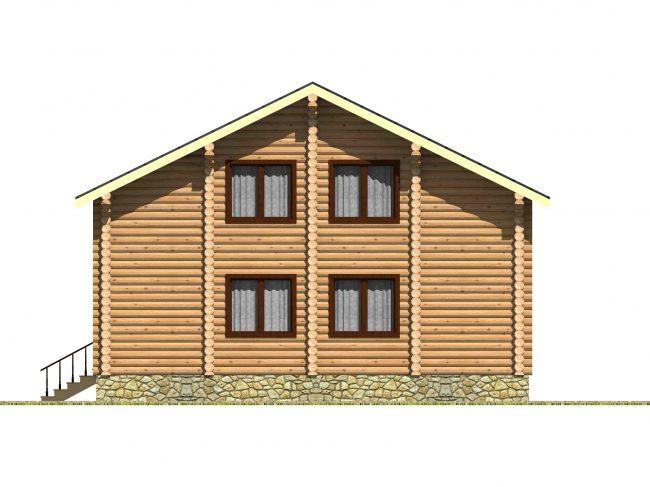 Дом из бревна-141