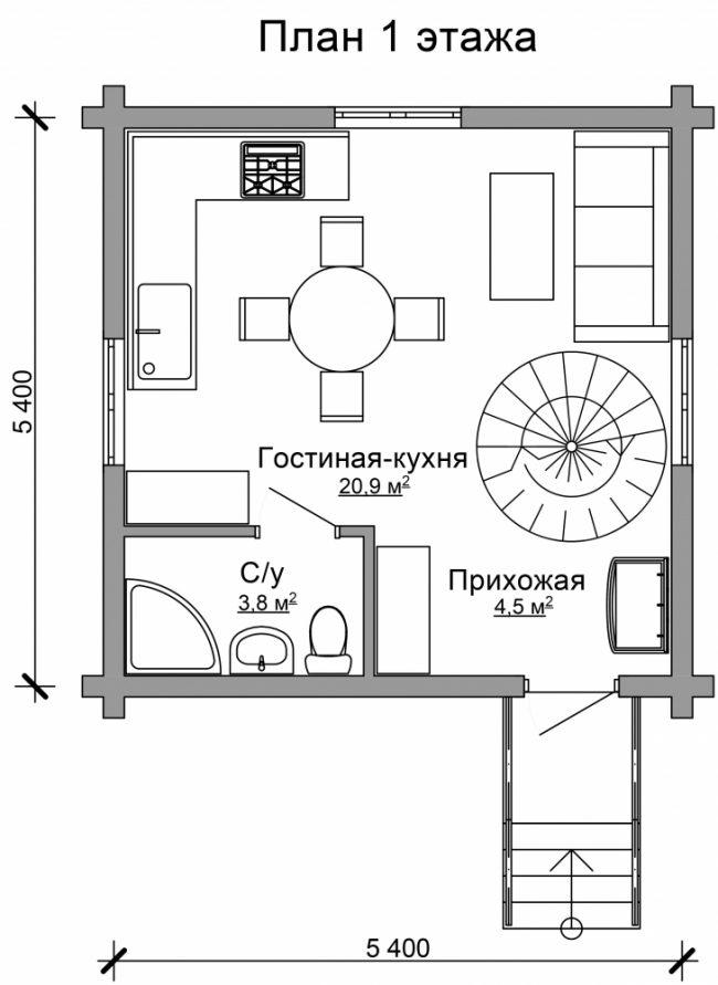 Дом из бревна-38