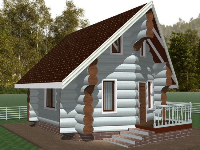 Дом из бревна-9