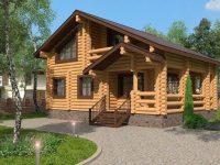 Дом из бревна-171