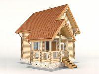 Дом из бревна-71