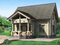 Дом из бревна-124