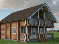 Дом из бревна-159