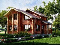 Дом из бревна-108