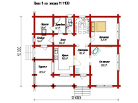 Дом из бревна-175