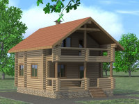 Дом из бревна-59