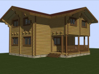 Дом из бревна-104