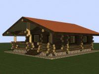 Дом из бревна-143