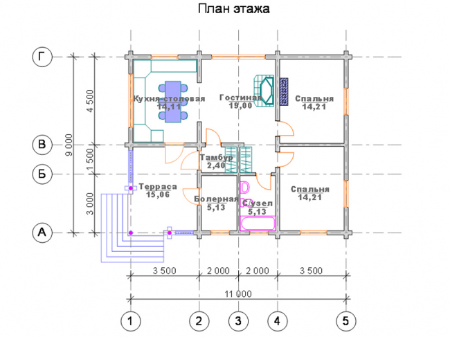 Дом из бревна-145