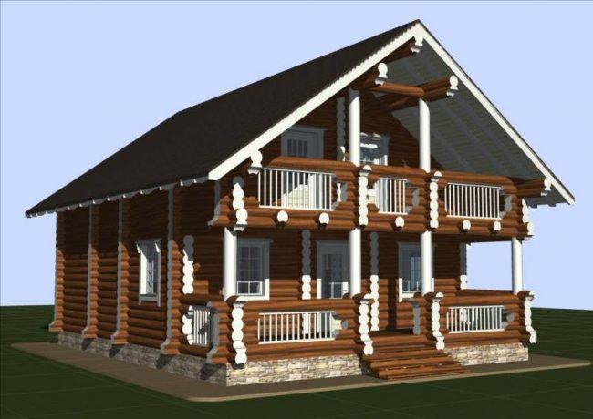 Дом из бревна-133