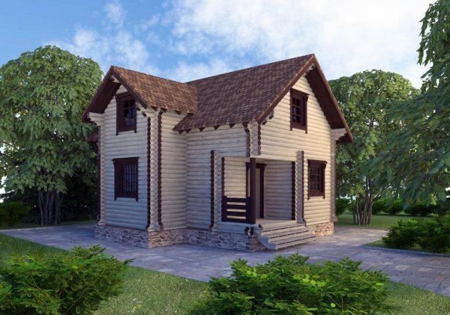 Дом из бревна-79
