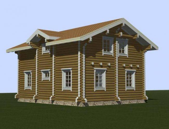 Дом из бревна-87
