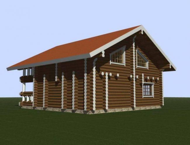 Дом из бревна-178