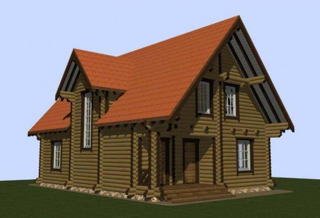 Дом из бревна-179